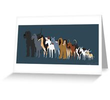 Sighthound Line Up Greeting Card