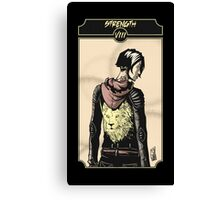 Strength - Sinking Wasteland Tarot Canvas Print
