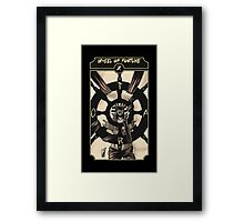 Wheel of Fortune - Sinking Wasteland Tarot Framed Print