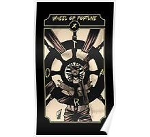 Wheel of Fortune - Sinking Wasteland Tarot Poster