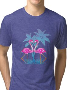 Summer Flamingo Tri-blend T-Shirt