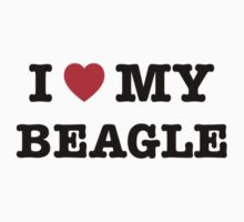 I Heart My Beagle Kids Tee
