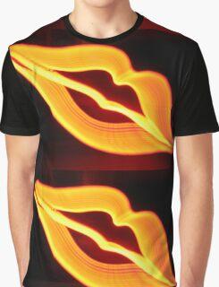 Neon Lips Graphic T-Shirt