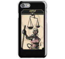 Justice - Sinking Wasteland Tarot iPhone Case/Skin