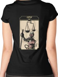 Justice - Sinking Wasteland Tarot Women's Fitted Scoop T-Shirt