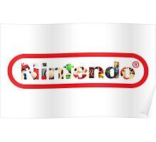 """Nintendo Heroes - """"HeroText"""" Poster"""