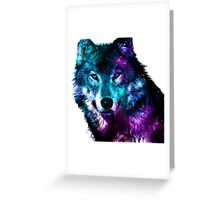 Wolf - The Pack & Night life Greeting Card