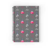 Love Chemistry Gray Spiral Notebook