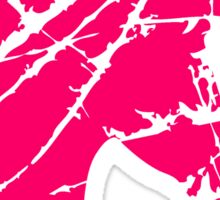 sculpture head cracks pattern imprint scratch unicorn pink horse outline silhouette shadow symbol logo stallion Sticker