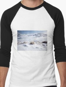 Tignes, France, Ski resort snowscape  Men's Baseball ¾ T-Shirt