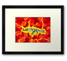 Machine Gun Funq Framed Print