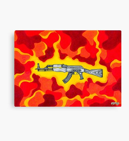 Machine Gun Funq Canvas Print