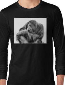 Orangutan in Black & White Long Sleeve T-Shirt