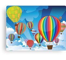 Air Balloons in the Sky 3 Canvas Print