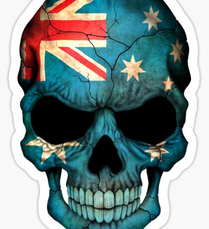 Australian Flag Skull Sticker