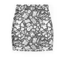 doodles (b&w) 2 Mini Skirt