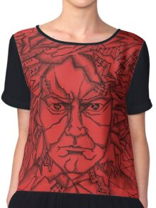 Red Beethoven Women's Chiffon Top