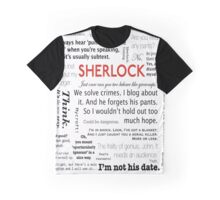 Sherlock  Quotes Graphic T-Shirt