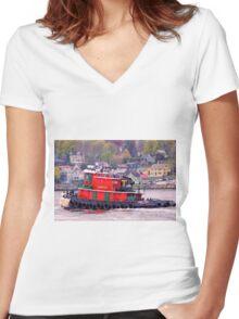 Working The John Paul Women's Fitted V-Neck T-Shirt