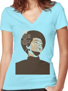 Phyllis Dillon : The Queen Of Rocksteady Women's Fitted V-Neck T-Shirt