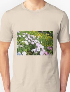 Purple and pink flowers in the park. T-Shirt