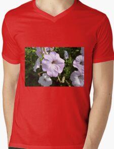 Beautiful light purple flowers in the park. Mens V-Neck T-Shirt