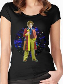 The 6th Doctor - Colin Baker Women's Fitted Scoop T-Shirt