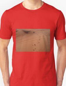 Steps in the sand. Desert dunes. Unisex T-Shirt