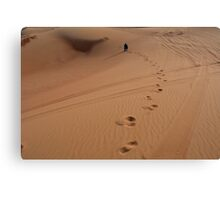 Steps in the sand. Desert dunes. Canvas Print
