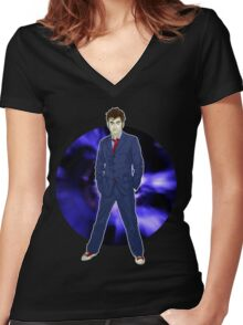 The 10th Doctor - David Tennant Women's Fitted V-Neck T-Shirt