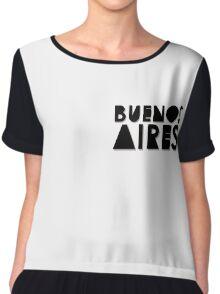 Buenos Aires - Monochrome Chiffon Top