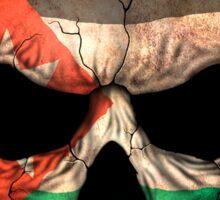 Jordanian Flag Skull Sticker