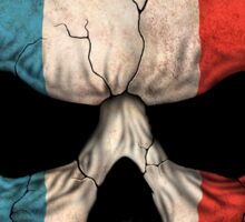 French Flag Skull Sticker
