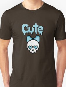 8-bit Cute skull (Blue) T-Shirt