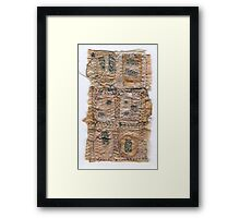 Tea Bag Textile 2 Framed Print