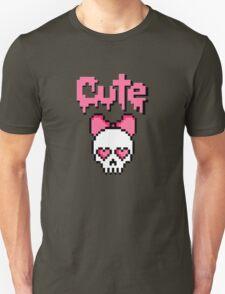 8-bit Cute skull (Pink) T-Shirt