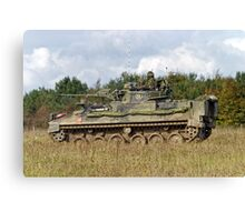 A British Army Warrior Infantry Fighting Vehicle Canvas Print