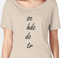 Crochet Stitches Women's Relaxed Fit T-Shirt