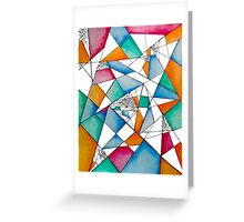 Abstract Colorful Greeting Card