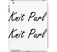 Knit Purl 1 iPad Case/Skin