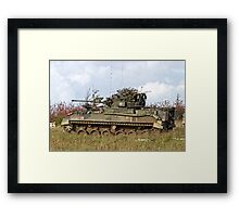 A British Army Warrior Infantry Fighting Vehicle Framed Print