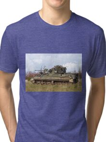 A British Army Warrior Infantry Fighting Vehicle Tri-blend T-Shirt