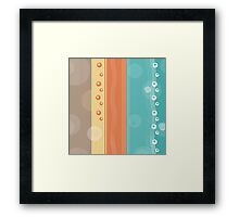 Modern Abstract Summer Nautical Decor Framed Print