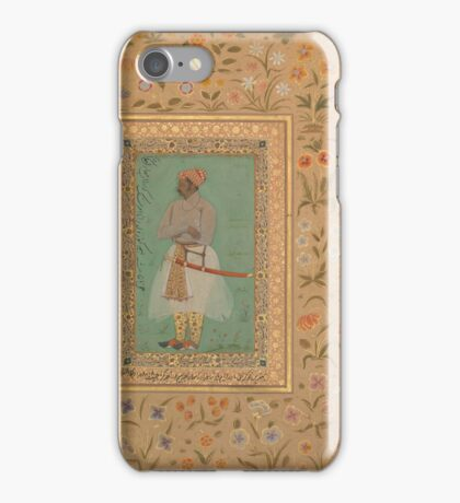 Portrait of Maharaja Bhim Kanwar, Folio from the Shah Jahan Album iPhone Case/Skin