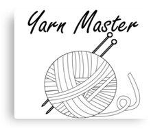 Yarn Master Knitting Canvas Print