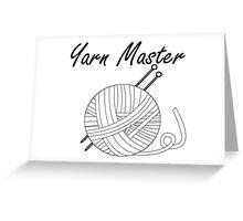 Yarn Master Knitting Greeting Card