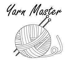 Yarn Master Knitting Photographic Print