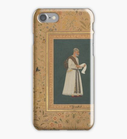 Portrait of Mulla Muhammad Khan Vali of Bijapur, Folio from the Shah Jahan iPhone Case/Skin