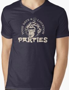 Your date and location parties Mens V-Neck T-Shirt
