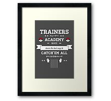 Trainers Academy Framed Print